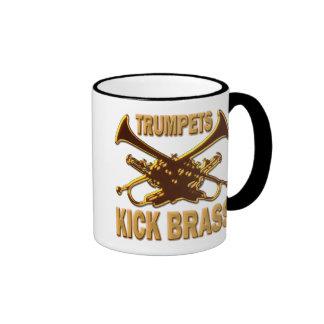 TRUMPETS KICK BRASS RINGER MUG