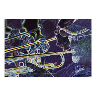Trumpets mile high jazz band poster