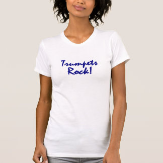 Trumpets Rock - Blue Lettering Shirt