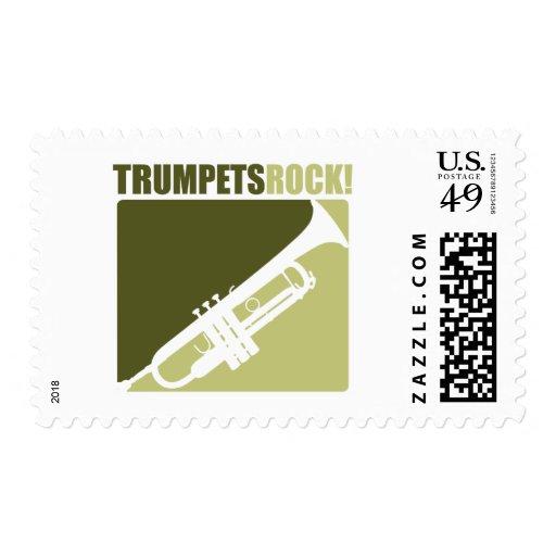 Trumpets Rock Stamp