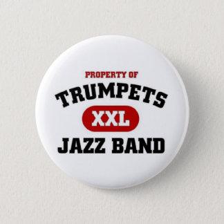 Trumpets XXL Jazz Band Pinback Button