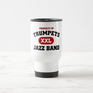 Trumpets XXL Jazz Band Travel Mug