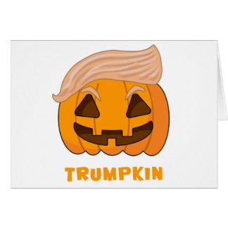 Trumpkin Donald Trump Pumpkin Card