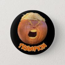 Trumpkin Halloween button badge