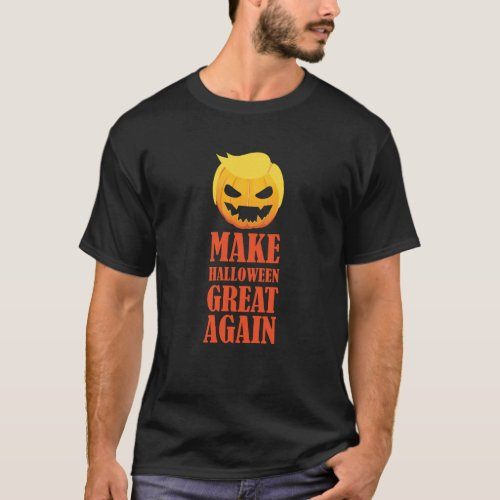 Trumpkin Halloween Great Again Costume T_Shirt