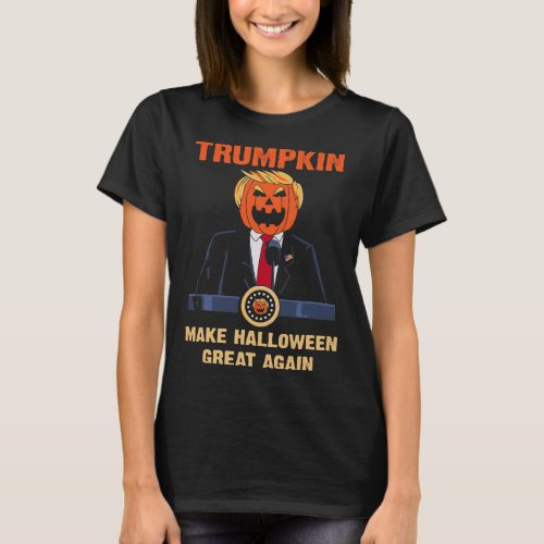 Trumpkin Make Halloween Great Again Funny Trump T_Shirt
