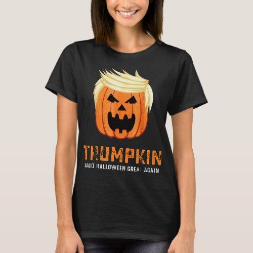 trumpkin make halloween great again scare satan de T_Shirt