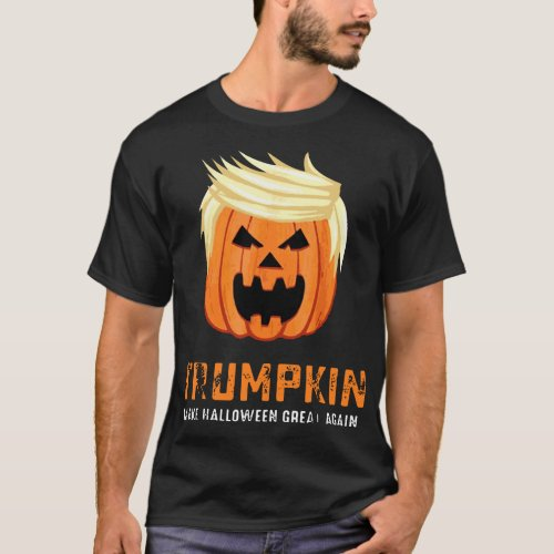 trumpkin make halloween great again scare satan de T_Shirt
