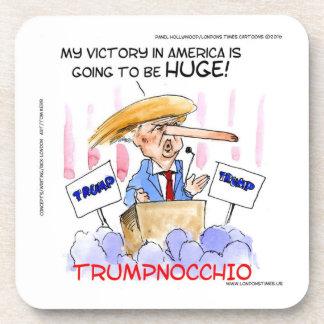 Trumpnocchio Funny Donald Trump Items Coaster