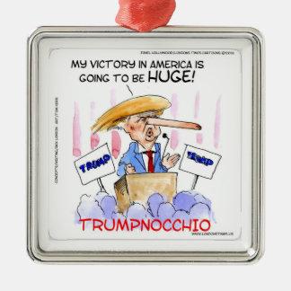 Trumpnocchio Funny Donald Trump Items Metal Ornament