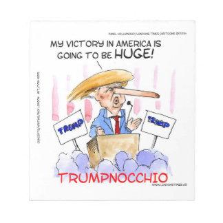Trumpnocchio Funny Donald Trump Items Notepad