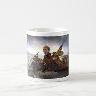 Trump's Big Head Crossing the Hudson Coffee Mug