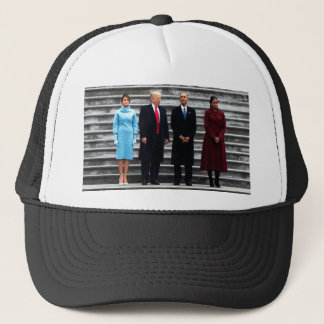 Trumps & Obamas On Inauguration Day Trucker Hat