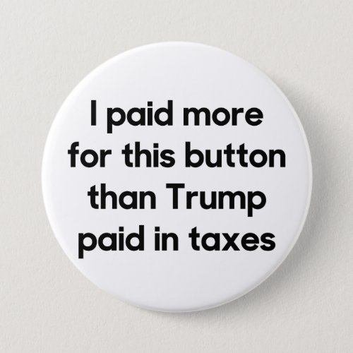 Trumps Taxes Button