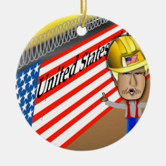 Trump's Wall Ceramic Ornament