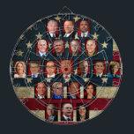 """Trump&#39;s White House Cabinet Dartboard<br><div class=""""desc"""">Trump&#39;s White House Cabinet</div>"""