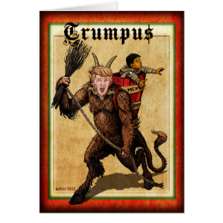 TRUMPUS - SEASON's GREEDINGS Card