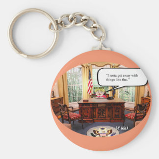 Trumpy Baby - Oval Office  - Key Chain - 2 1/4""