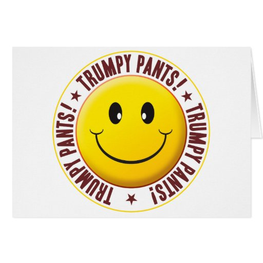 Trumpy jadea smiley tarjeta de felicitación