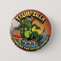 Trumpzilla! Godzilla Political Trump Pin Dinosaur