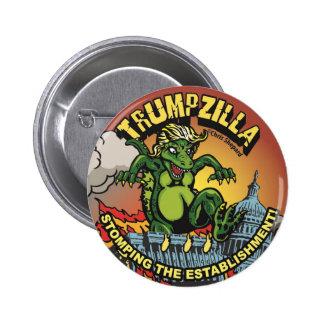 Trumpzilla!!! Godzilla Political Trump Pin! Pinback Button