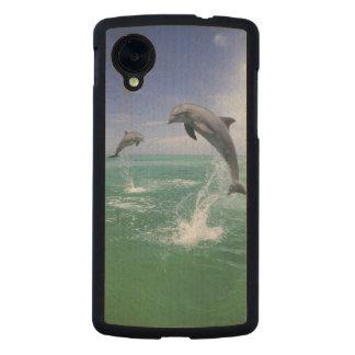 Truncatus) del Tursiops de los delfínes de Funda De Nexus 5 Carved® De Arce