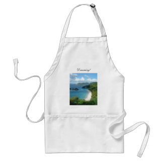 Trunk Bay, Dreaming! Adult Apron