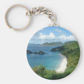 Trunk Bay, Dreaming! Basic Round Button Keychain