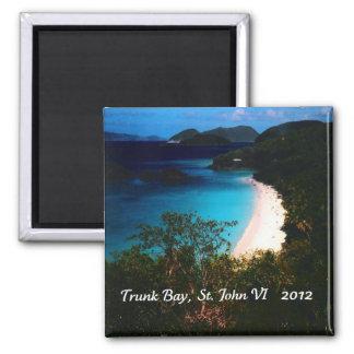 Trunk Bay, St. John 2012 2 Inch Square Magnet