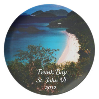 Trunk Bay, St. John 2012 Dinner Plate