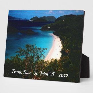 Trunk Bay, St. John 2012 Plaque