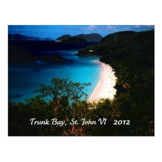Trunk Bay, St. John 2012 Postcard