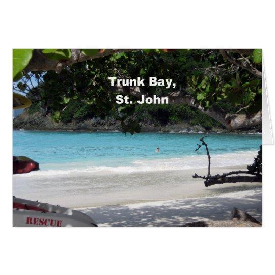 Trunk Bay, St. John Card