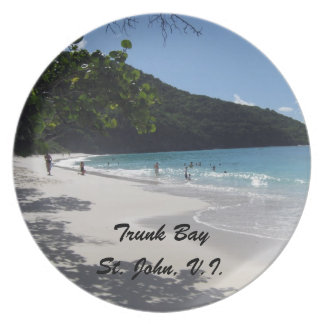 Trunk Bay, St. John Dinner Plate