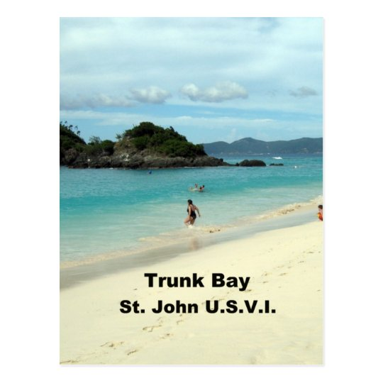 Trunk Bay, St. John Postcard