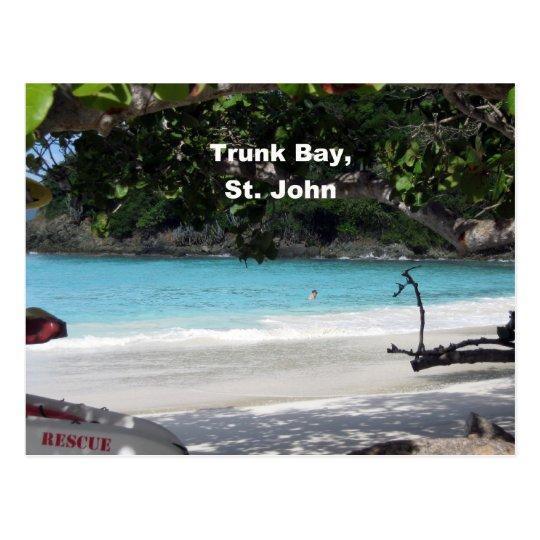 Trunk Bay, St. John Postcard