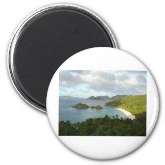 Trunk Bay, St John, USVI 2 Inch Round Magnet