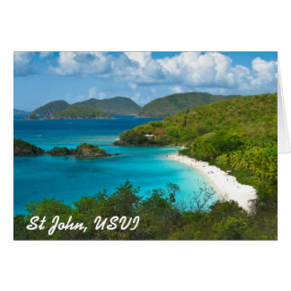 Trunk Bay, St John USVI Card