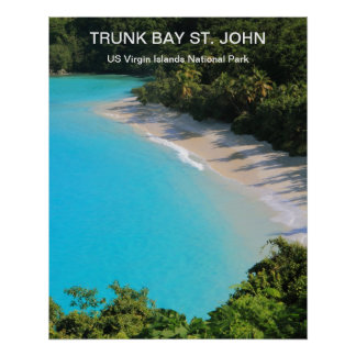 Trunk Bay, St, John, USVI National Park Poster