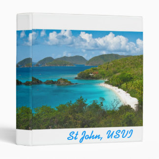 Trunk Bay, St John USVI Vinyl Binders
