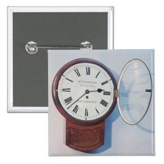 Trunk dial clock, London, 1850 Button