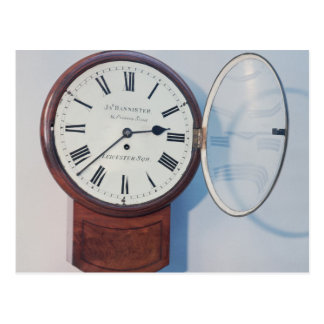 Trunk dial clock, London, 1850 Postcard