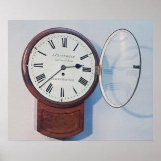 Trunk dial clock, London, 1850 Poster
