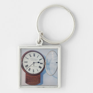 Trunk dial clock, London, 1850 Silver-Colored Square Keychain