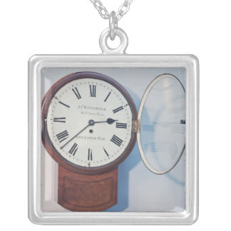 Trunk dial clock, London, 1850 Silver Plated Necklace