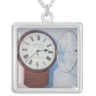 Trunk dial clock, London, 1850 Square Pendant Necklace