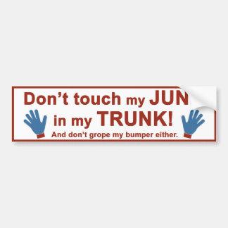 Trunk Junk Bumper Sticker