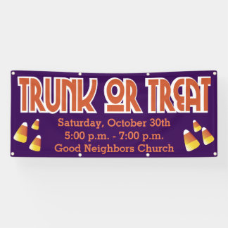 Trunk Or Treat Candy Corn Banner