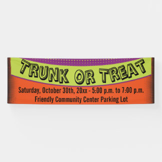 Trunk Or Treat Colorful Fun Banner