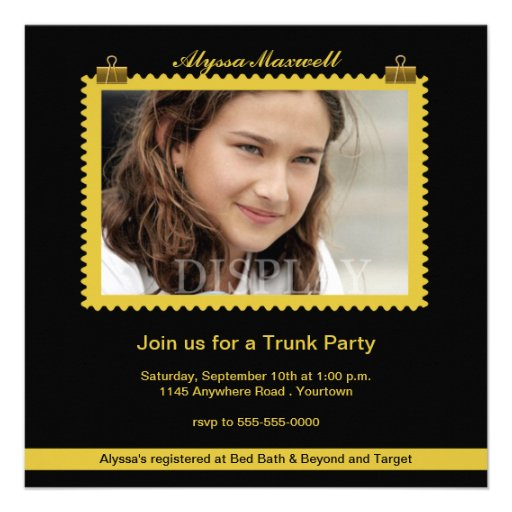 Personalized Trunk party Invitations CustomInvitations4Ucom